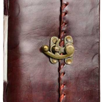 1841 Peotry Leather Blank Book of Shadows