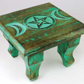 Anitque Triple Moon Altar Table