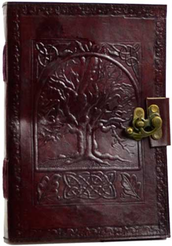 Celtic Tree of Life Leather Blank Book of Shadows