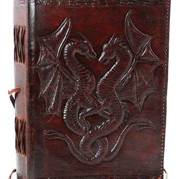 Double Dragon Leather Blank Book of Shadows