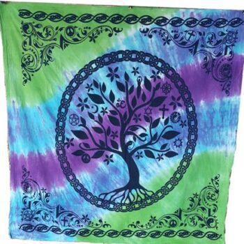 Tie Dye Tree of Life Altar Cloth