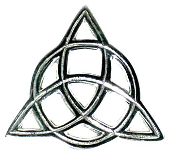 Silver Plated Triquetra Altar Tile