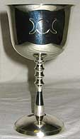 Silver Plated Triple Moon Goddess Chalice